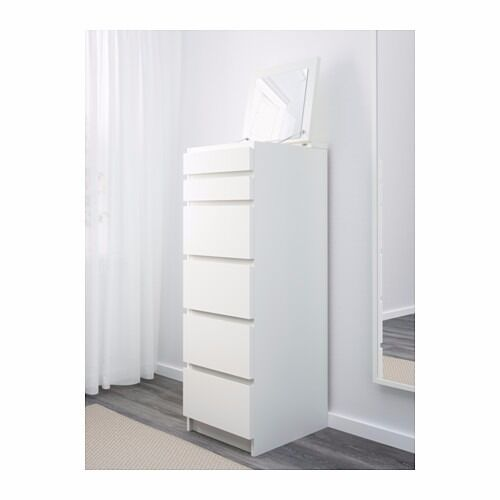 Ikea Malm Tall Chest Of Drawers 6 Drawers Not Used As