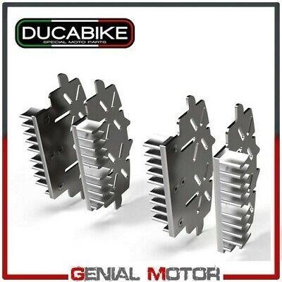 Caliper Heatsinks Brake Silver Ducabike Ducati Diavel Amg Carb Cromo 2011 > 2015