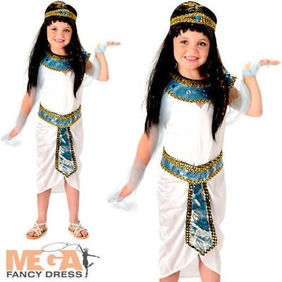 Queen Cleopatra Girls Egypt Empress Childrens Kids Childs Egyptian Costume New  - Egypt Costume For Girls