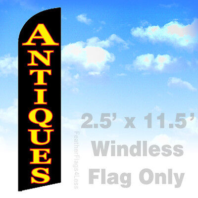 Antiques - Windless Swooper Flag 2.5x11.5 Feather Banner Sign - Kf