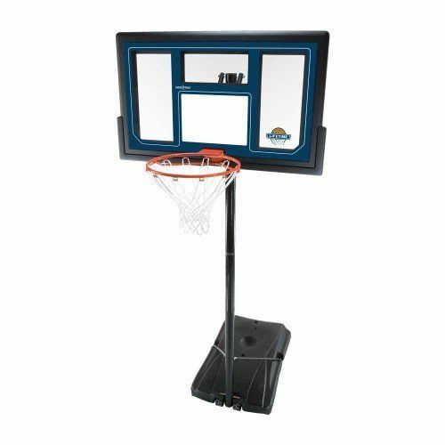 Lifetime 1529 Courtside Height Adjustable Portable Basketball System, 50 Inch Shatterproof Backboard 1529