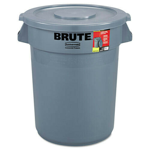 Rubbermaid 32 Gal. Brute All-Inclusive Container (Gray) 863292GRA NEW