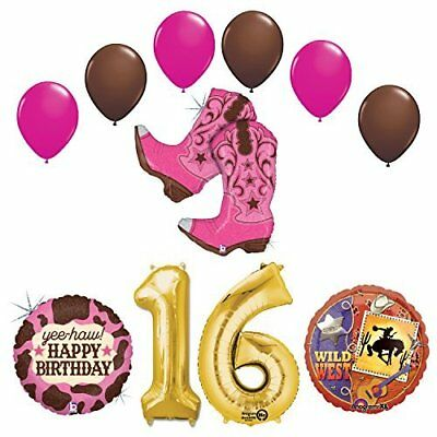 Wild Wild West Sweet 16th Cowgirl Boots Birthday Party Supplies   - Cowgirl Birthday Supplies