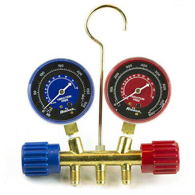 Robinair 41671 R410a Manifold 2 12 In Redblue Gauge Set No Hoses