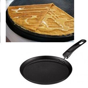 crepe pancake pan maker non stick 22cm black kuhn rikon perfect low fat frying ebay. Black Bedroom Furniture Sets. Home Design Ideas