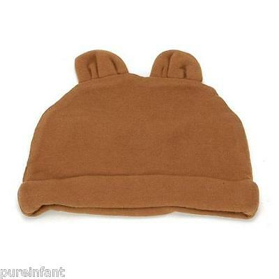 Joli Bebe Organic Cotton Bear Hat in Chocolate: Size 0-12 Months