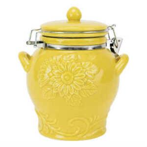 Boston Warehouse Yellow Sunflower Hinged Jar