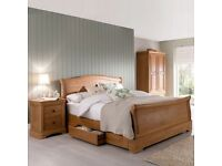 Luxury Kingsize Oak Sleigh Bed NEW