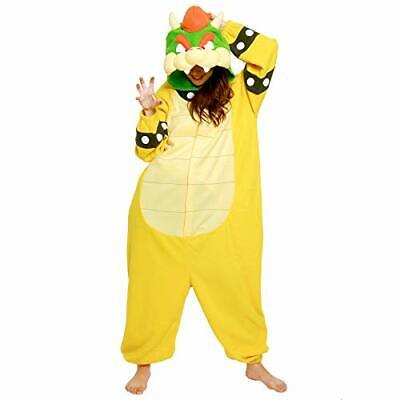 SAZAC Fleece Costume  Super Mario Brothers Bowser King Koopa  Unisex Adult F/S