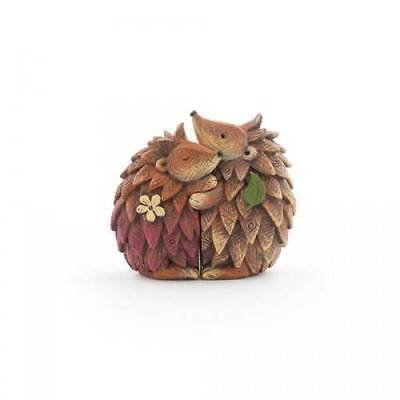 Cute Woodland Hugging Hedgehog Couple Statue Ornament FO_29515