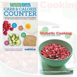 Diabetic Cooking for One and Two,Carbs & Cals 2 Books Collection Set Paperback