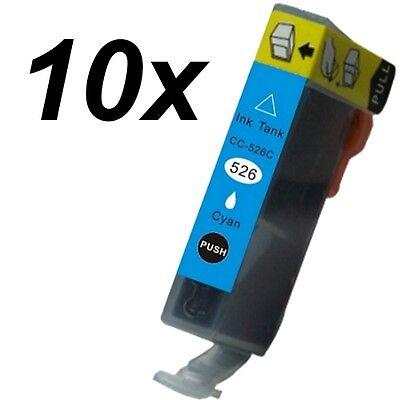 10 x Druckertinte für Canon Pixma CLI-526C MG 5350 6100 6120 6120 Wireless 6150 online kaufen