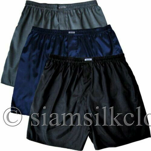 Mens Thai Silk Boxer Shorts 5 Colors Pack Briefs Underwear Sleepwear M L XL 2XL