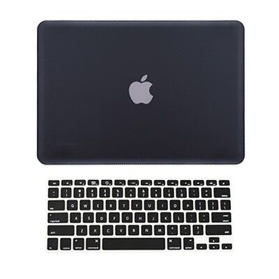 2 in 1 Rubberized BLACK Hard Case for Macbook PRO 15