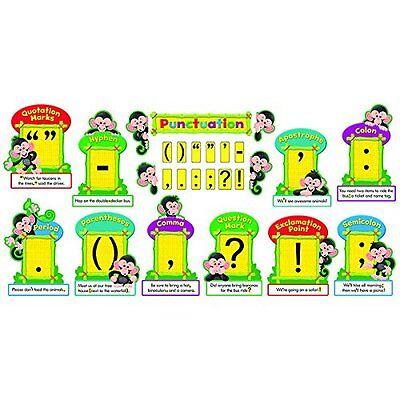 unctuation Bulletin Board Set (tep-8282) (tep8282) (Monkey Bulletin Board)