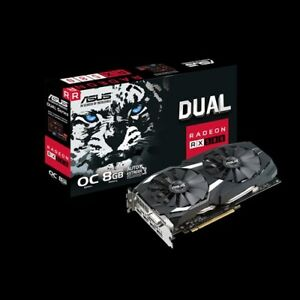 ASUS Radeon RX 580 8GB Dual-fan OC Edition GDDR5 VR Ready AMD