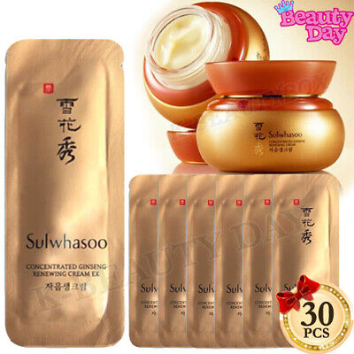 Sulwhasoo Concentrated Ginseng Renewing Cream 1ml x 30pcs (30ml) Korean Cosmetic