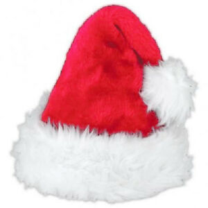 61fab9c54b0fd5 GTL Deluxe Santa Father Christmas Hat Xmas Fancy Dress Costume Hat Accessory