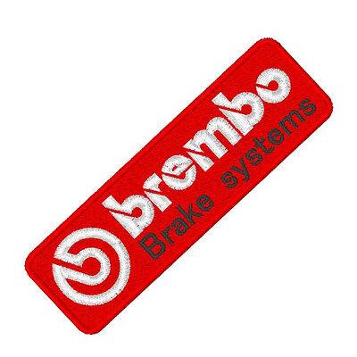 """Auto Racing Fan aufnäher """"Brembo"""" ca 10x 3 cm"""