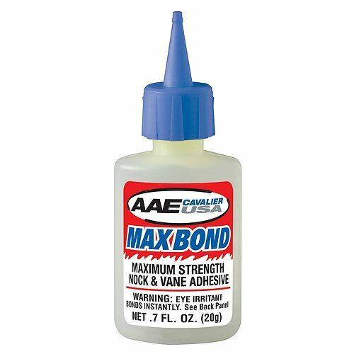 Arrow Fletching Glue AAE .7oz Bottle Max Bond Glue Archery Bow Vane Fletch