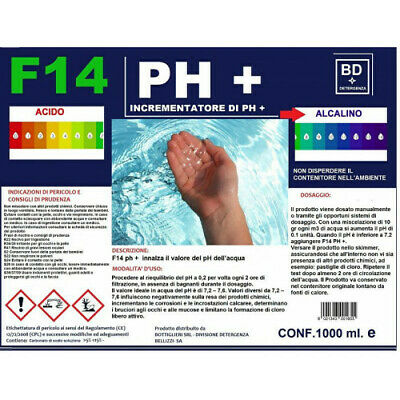 F14 Ph + Aumentador Por Ph 1000ML Piscina