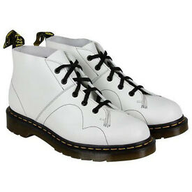 Dr Martens Church white monkey boots shoes UK 9 Euro 43. Brand new in box.