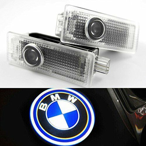 Car Parts - 2x CREE LED Door For BMW Projector Courtesy Puddle Shadow Laser Light Lamp Logo