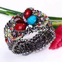 Multicolor Crystal & Resin Butterfly Bracelet Bangle--NEW!