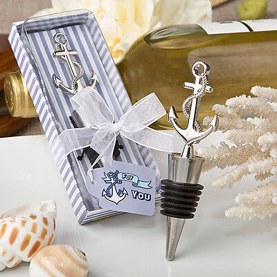 180 Nautical Themed Anchor Wine Bottle Stoppers Bridal Shower Wedding Favors - Wine Themed Bridal Shower Favors