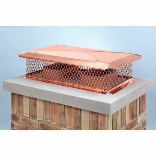 "copper coated chimney cap 17"" x 20"" Copper Multi-Flue Cap"