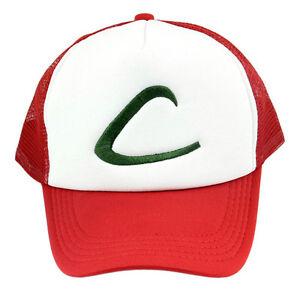 Anime Cosplay Pokemon Pocket Ash Ketchum Baseball Trainer Bboy Cap Hip Hop Hat