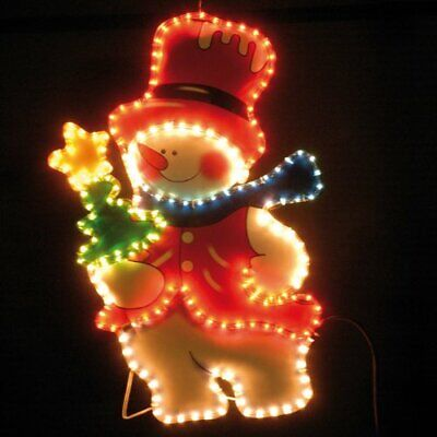 Christmas Silhouette Snowman Rope Light For indoor and outdoor Decoration ()