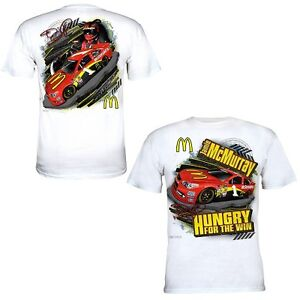 Jamie-McMurray-Chase-Authentics-1-McDonald-039-s-White-Draft-Tee-FREE-SHIP
