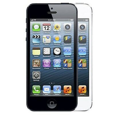 "Apple iPhone 5 16GB ""Factory Unlocked"" Black and White WiFi iOS Smartphone"