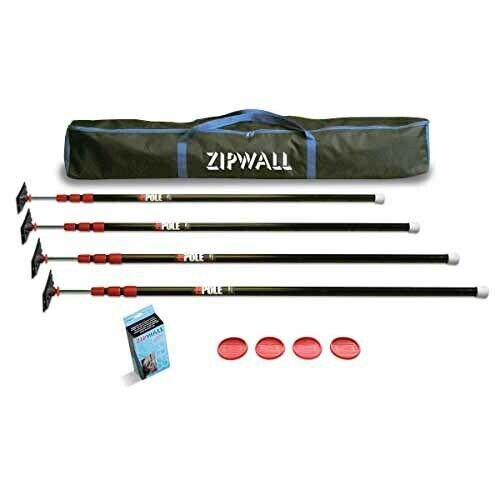 Zipwall 10 4-Pack Dust Barrier System