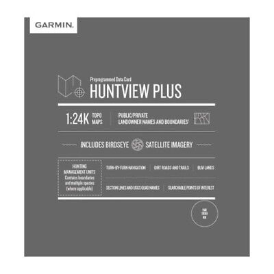 Garmin Hunt View PLUS Map Card MICHIGAN Birdseye 24K Topo HuntView