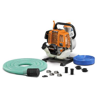 1 Clean Water Pump Kit 2 Hp 30 Gpm Gas Powered 33cc Engine Garden Hose Adapter