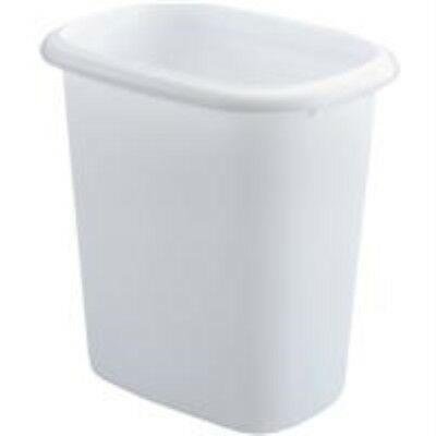 Rubbermaid Vanity Trash Can Wastebasket 6.0 quarts (FG295300WHT)