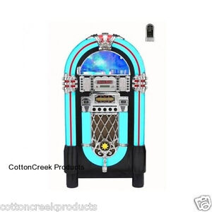 Jukebox Radio CD AM/FM USB MP3 Player Remote Control Stereo IPod IPone Jack New