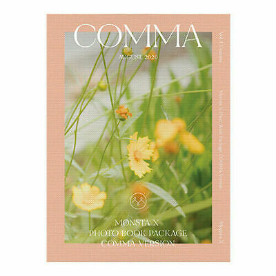 MONSTA X 2020 PHOTO BOOK COMMA DVD+256p Book+ID Card+Photo+AR Post Card+Polaroid