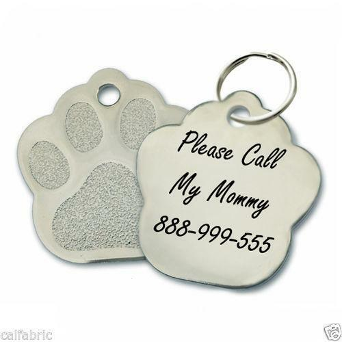 Chrome Plated Metal Small Pet Id Dog Cat Tag Zodiac: Personalized Name Tags