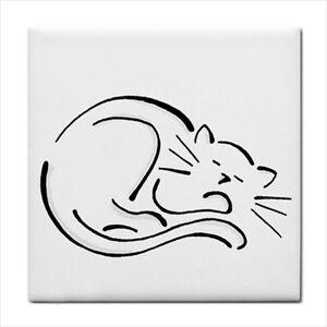 Cat-Kitty-Curled-Up-Sleeping-Art-Ceramic-Tile