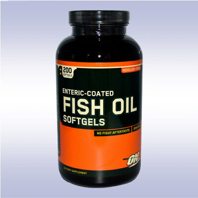 Optimum Nutrition Fish Oil  200 Softgels  Omega 3 Fatty Acids Dha Epa Heart On