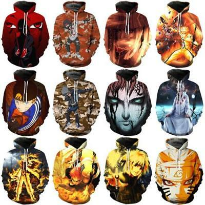 Women/Men Japan Anime Character 3D Print Casual Hoodies Sweatshirt Pullover Tops - Women Anime Characters