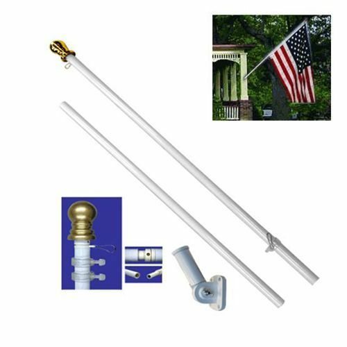 american flag pole kit wall mount 6