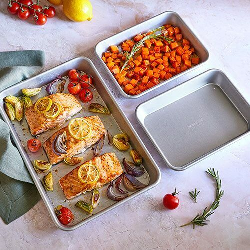 Pampered Chef 3 Nesting Heavy-Gauge MODULAR SHEET PANS - NEW FALL PRODUCT!