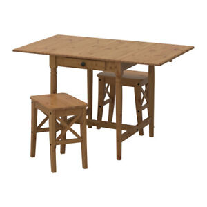 Foldup tabe with two stools