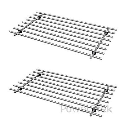 2 x IKEA LAMPLIG Trivet Kitchen Pot Pan Stand Surface Saver Stainless Steel NEW