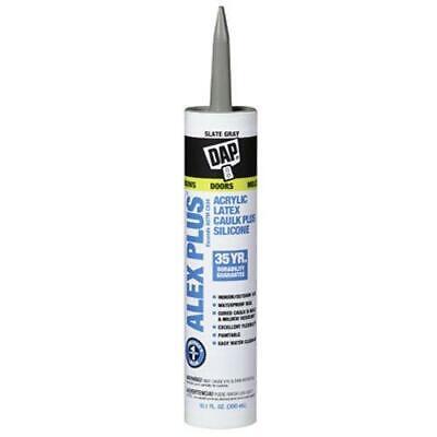 Dap Slate Gray Acrylic Latex Caulk With Silicone 18118