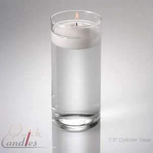 Glass Cylinder Floating Candle Vase 7 5 Inch Wedding Ebay